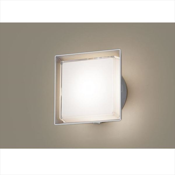 パナソニック LEDブラケット・デザインシリーズ センサあり・段調光省エネ型 LGWC80301LE1(100V) 『エクステリア照明 ライト』 シルバーメタリック