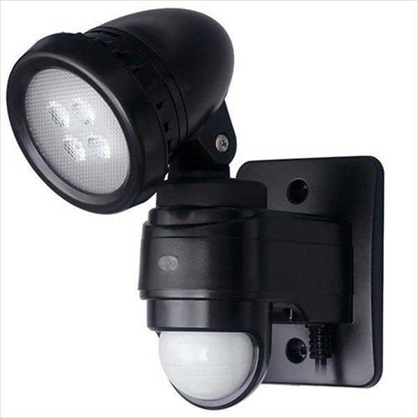 DXアンテナ LEDセンサーライト 1灯型 DSLD10B1 ブラック