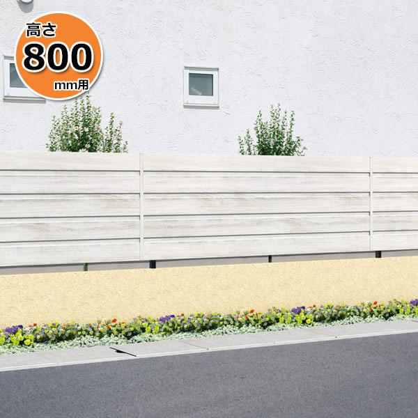 木調アルミフェンス 三協アルミ フレイナ YM型 本体 フリー支柱タイプ 2008 『柵 高さ H800mm用』 木調色