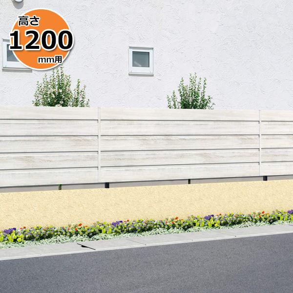 木調アルミフェンス 三協アルミ フレイナ YM型 本体 フリー支柱タイプ 2012 『柵 高さ H1200mm用』 木調色