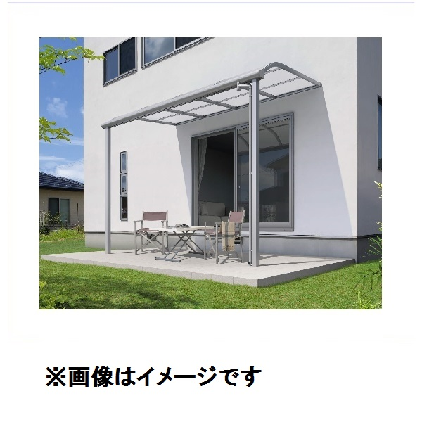 三協アルミ レボリューA 3.5間×6尺 600タイプ/メーターモジュール/1階用R型/標準収まり/2連結 熱線遮断ポリカ 『テラス屋根』