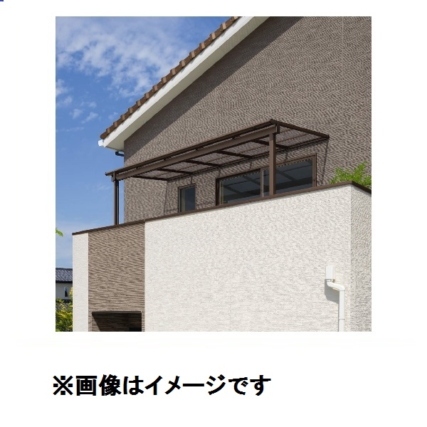 三協アルミ レボリューA 5.0間×7尺 600タイプ/メーターモジュール/2階用F型/出幅移動収まり/3連結 熱線遮断ポリカ 『テラス屋根』
