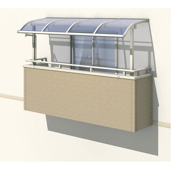 三協アルミ レボリューA 2.0間×3尺 600タイプ/メーターモジュール/3階用R型/出幅移動収まり/単体 ポリカーボネート 『テラス屋根』