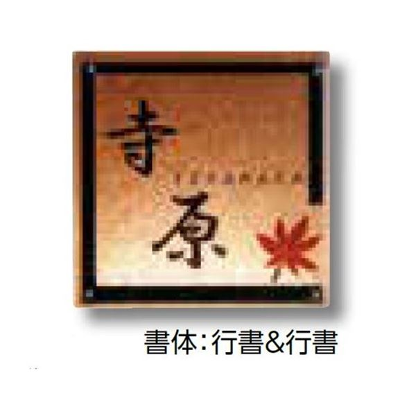 タカショー De-signシリーズ ガラスサイン ガラスブラウン 紅葉 12V  DREG-05   『表札 サイン 戸建』
