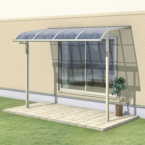 三協アルミ レボリューZ 1.0間×5尺 1500タイプ/メーターモジュール/1階用R型/出幅移動収まり/単体  『テラス屋根』 ポリカーボネート