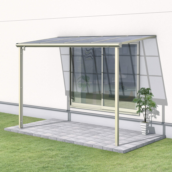 三協アルミ レボリューZ 3.5間×6尺 1500タイプ/メーターモジュール/1階用F型/標準収まり/2連結  『テラス屋根』 熱線遮断ポリカ
