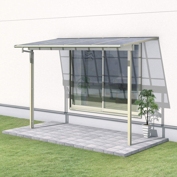 三協アルミ レボリューZ 4.0間×5尺 1500タイプ/関東間/1階用F型/出幅移動収まり/2連結  『テラス屋根』 熱線吸収ポリカ