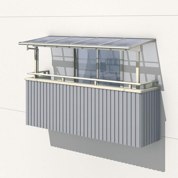 三協アルミ レボリューZ 4.0間×5尺 1500タイプ/メーターモジュール/2階用F型/出幅移動収まり/2連結  『テラス屋根』 熱線吸収ポリカ