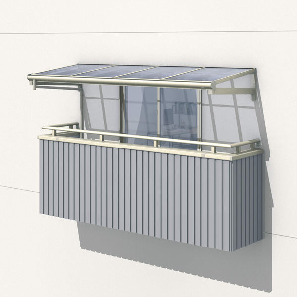 三協アルミ レボリューZ 1.5間×4尺 1500タイプ/メーターモジュール/1・2・3階用F型/柱なし式/単体 *雨トイは3m×2本を手配します 『テラス屋根』 熱線遮断ポリカ