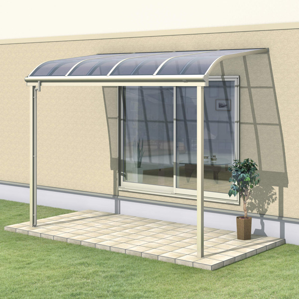 三協アルミ レボリューZ 4.0間×5尺 3000タイプ/関東間/1階用R型/標準収まり/2連結  『テラス屋根』 熱線吸収ポリカ