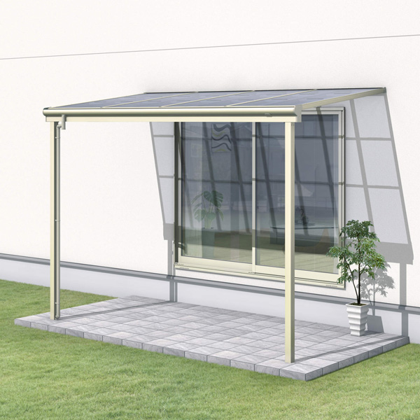 三協アルミ レボリューZ 2.0間×3尺 3000タイプ/関東間/1階用F型/標準収まり/単体  『テラス屋根』 ポリカーボネート