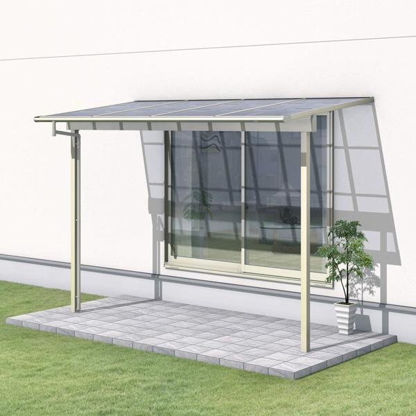 三協アルミ レボリューZ 4.0間×5尺 3000タイプ/関東間/1階用F型/出幅移動収まり/2連結  『テラス屋根』 熱線遮断ポリカ