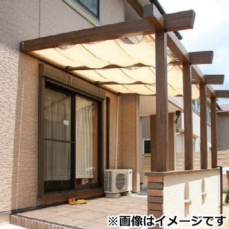 タカショー ポーチテラス カフェスタイル 腰壁 壁付タイプ 2間×8尺 クリア