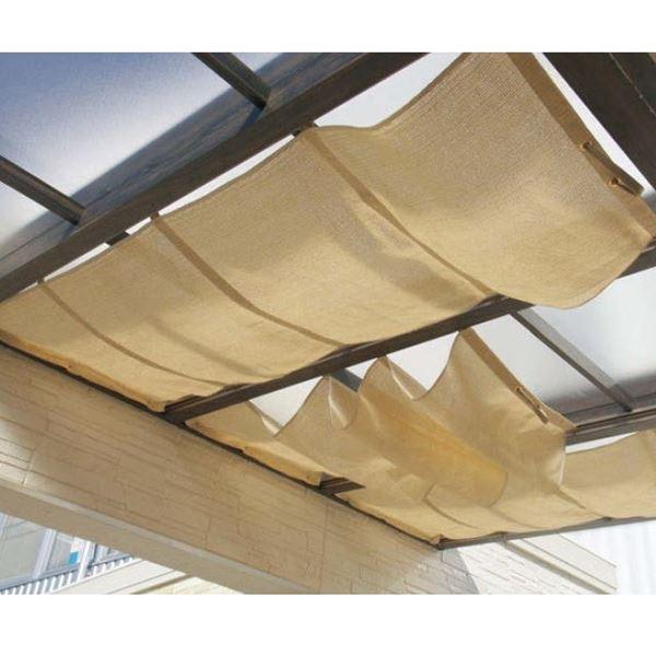 タカショー ポーチテラス オプションアイテム シンプルシェード 2間×9尺 サンドストーン