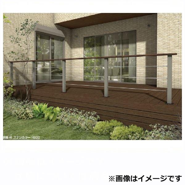 タカショー エバーアートフェンスパーツ 専用柱 エンド(専用工具入り) H800  ステン・シルバー