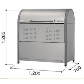 ヨドコウ ダストピット DPNC-650 『ゴミ袋(45L)集積目安 14袋、世帯数目安 7世帯』 『追加金額で工事も可能』 『ダストボックス ゴミステーション 屋外』