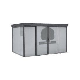 ヨドコウ ダストピット DPFW-3725 70世帯用 (受注生産商品) 『ゴミ収集庫』『ダストボックス ゴミステーション 屋外』