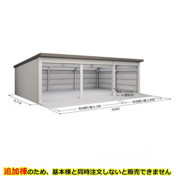 ヨド倉庫 SOB-8657LAE 追加棟 *基本棟と同時に購入しないと、商品の販売が出来ません ブラウニー