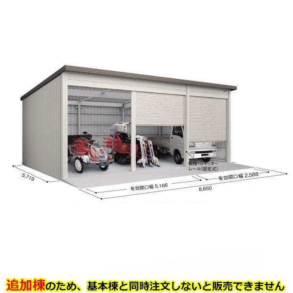 ヨド倉庫 SOB-8657FHAE 追加棟 *基本棟と同時に購入しないと、商品の販売が出来ません ブラウニー