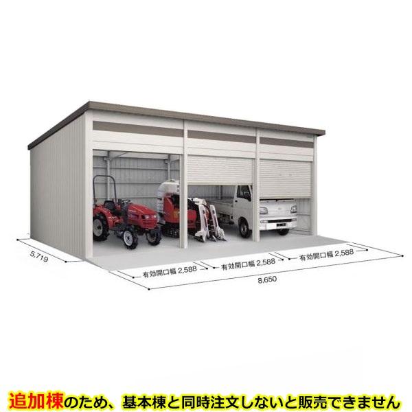 ヨド倉庫 SOBU-8657HE 追加棟 *基本棟と同時に購入しないと、商品の販売が出来ません ブラウニー