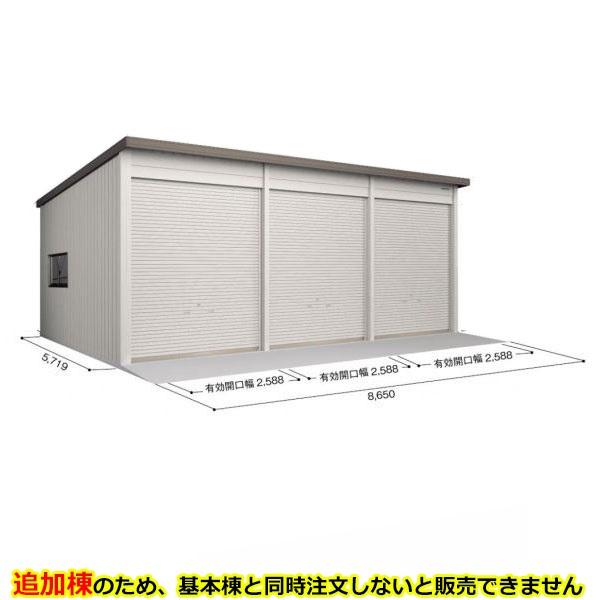 ヨド倉庫 SOBU-8657FHD 追加棟 *基本棟と同時に購入しないと、商品の販売が出来ません ブラウニー