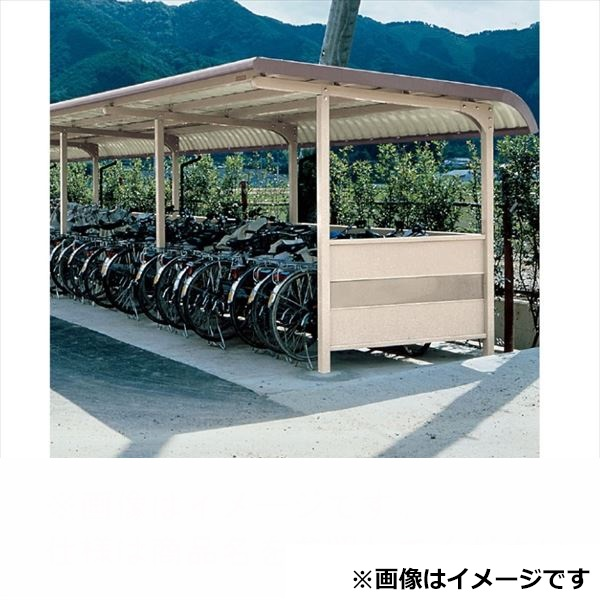 自転車置き場 ヨド物置 YOKRS-280 Hタイプ 基本棟 『公共用 サイクルポート 屋根』 ブラウニー