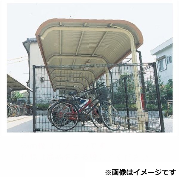 自転車置き場 ヨド物置 YOR-280BSA 追加棟(追加棟施工には基本棟の別途購入が必要です) 『公共用 サイクルポート 屋根』 ライトブラウン