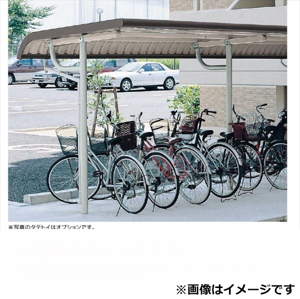 自転車置き場 ヨド物置 YOTR-240 基本棟 『公共用 サイクルポート 屋根』 グレーベージュ