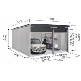 ヨドガレージ ラヴィージュ VGB-4552 標準+ユーティリティスペース型 『シャッター車庫 ガレージ』 グリティブラウン