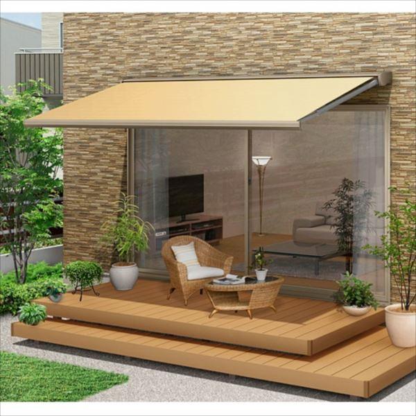 想像を超えての リクシル 彩風 C型 手動式 間口 2730×出幅 2000 ナチュラル アクリル ナチュラル:エクステリアのキロ支店-エクステリア・ガーデンファニチャー