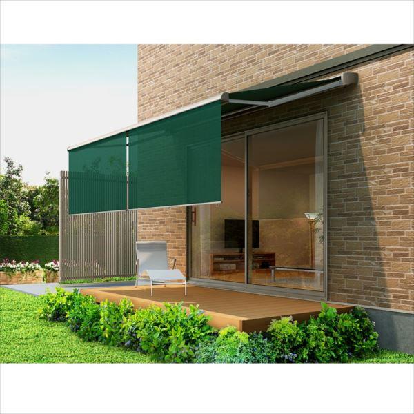 リクシル 彩風 CR型 電動・手動併用式 間口 3640×出幅 2000  熱線遮断・アクア グリーン系