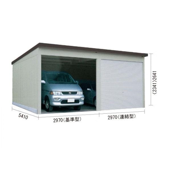 ダイケン ガレージ CH-KB3054型(3連棟・多雪型) 『シャッター車庫 ガレージ』 オータムグレー