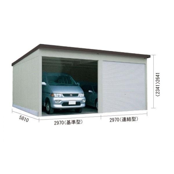 ダイケン ガレージ CH-KS3058型(2連棟・一般・結露防止型) 『シャッター車庫 ガレージ』 オータムグレー