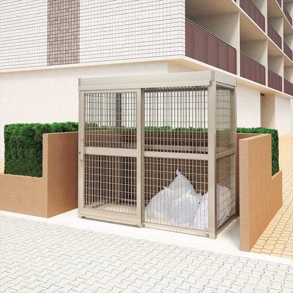 四国化成 ゴミストッカーAMR1型 開き戸式 積雪荷重3000N/m2 全面メッシュ 連棟ユニット LGAMR1T-GU2010