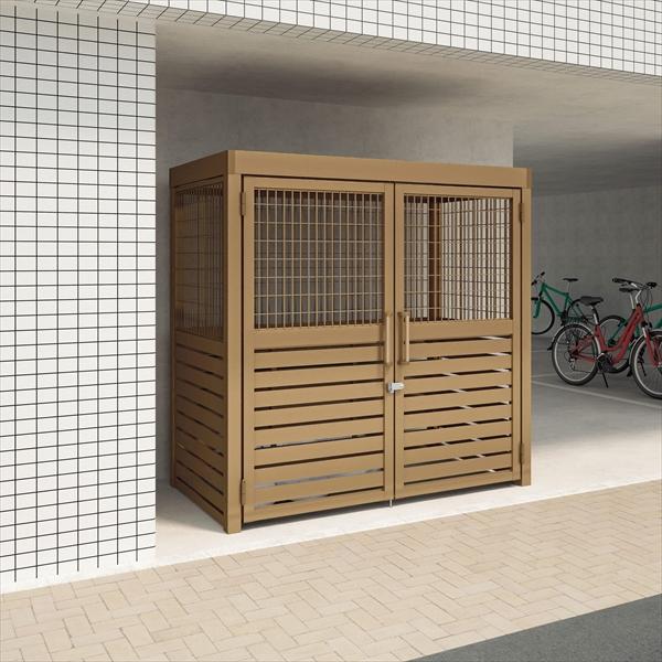 四国化成 ゴミストッカーAMR2型 開き戸式 積雪荷重3000N/m2 メッシュ+横面格子 連棟ユニット LGAMR2T-GU2020