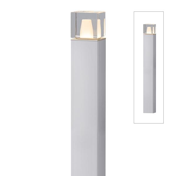 タカショー エバーアートポールライト 6型 100V 拡散光 ガラスブロック HFD-D71S #75542400  『エクステリア照明 ライト』 シルバー