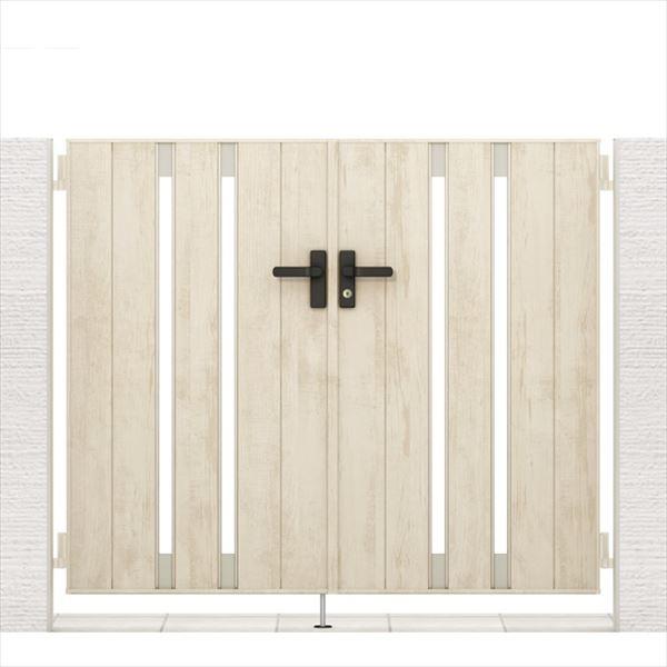 リクシル 開き門扉AA TS1型 柱仕様 ラッピング形材柱 09-12 両開き