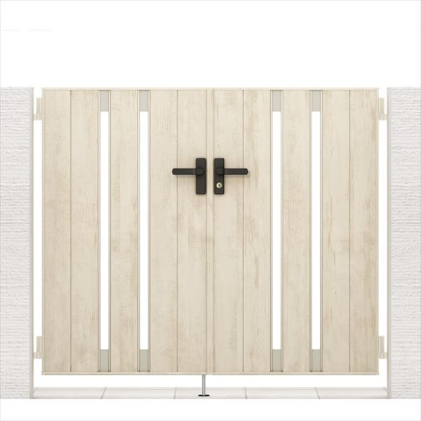 リクシル 開き門扉AA TS1型 柱仕様 アルミ形材柱 09-12 両開き