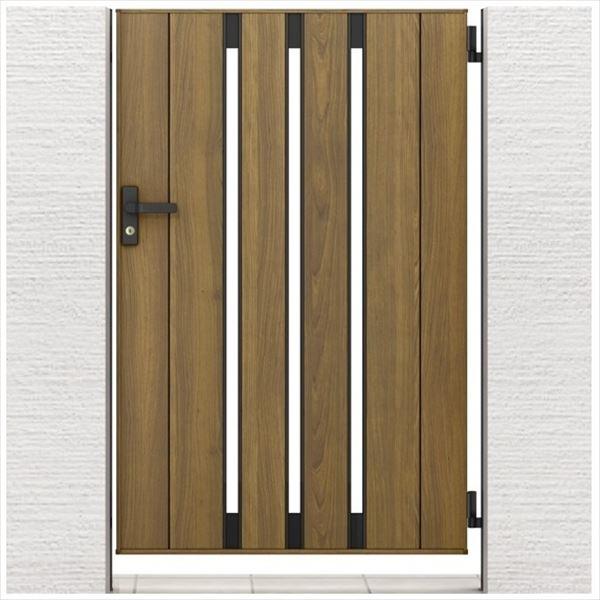 リクシル 開き門扉AA TS1型 柱仕様 ラッピング形材柱 09-14 片開き