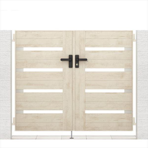 リクシル 開き門扉AA YS1型 柱仕様 アルミ形材柱 09-12 両開き