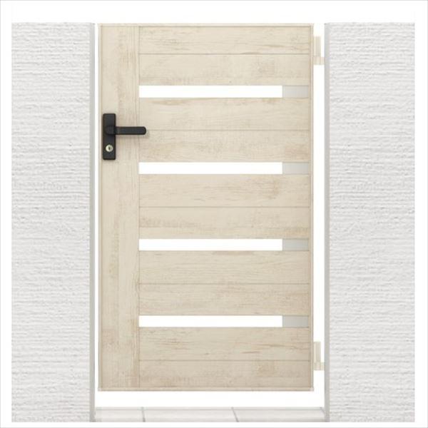 リクシル 開き門扉AA YS1型 柱仕様 アルミ形材柱 09-14 片開き