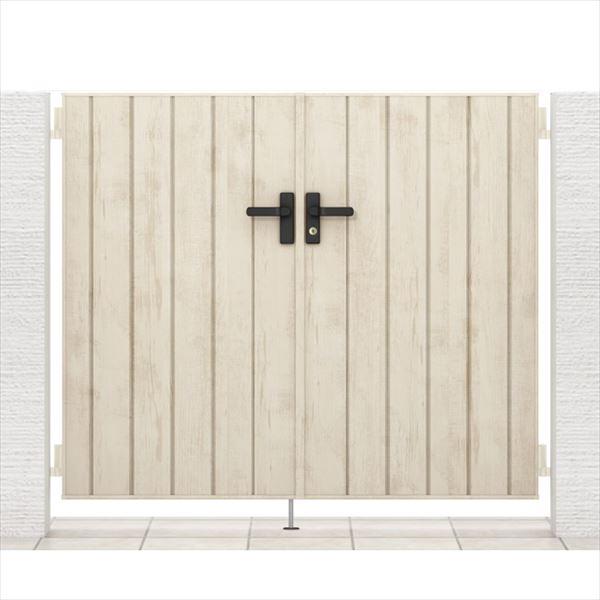 リクシル 開き門扉AA TM1型 柱仕様 アルミ形材柱 09-14 両開き