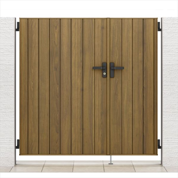 リクシル 開き門扉AA TM1型 柱仕様 アルミ形材柱 05・09-16 親子開き