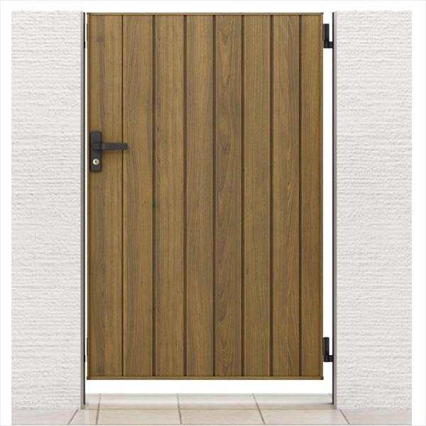 リクシル 開き門扉AA TM1型 柱仕様 ラッピング形材柱 09-12 片開き