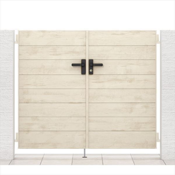 リクシル 開き門扉AA YM1型 柱仕様 アルミ形材柱 07-14 両開き