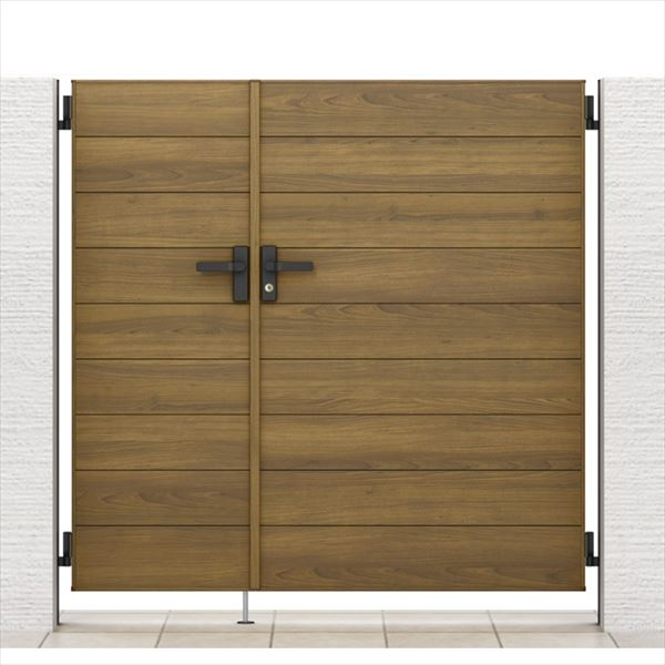 リクシル 開き門扉AA YM1型 柱仕様 アルミ形材柱 05・09-12 親子開き