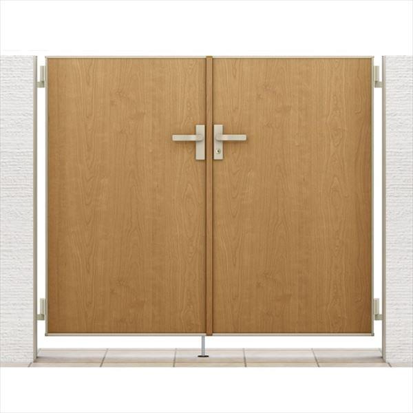 リクシル 開き門扉AA FM1型 柱仕様 アルミ形材柱 09-12 両開き