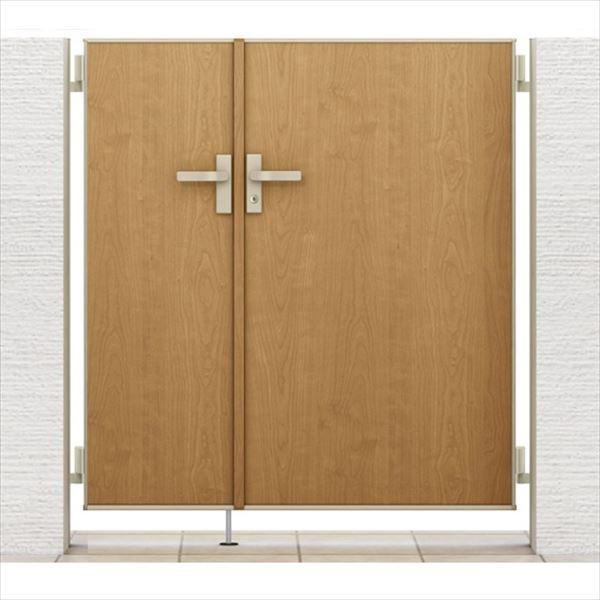 リクシル 開き門扉AA FM1型 柱仕様 アルミ形材柱 05・09-14 親子開き