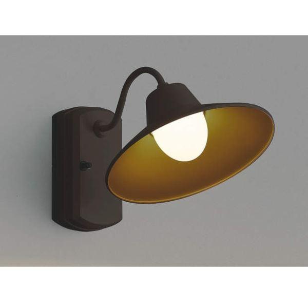 コイズミ ポーチ灯 AU42253L 『ブラケットライト エクステリア照明 ライト』 茶色