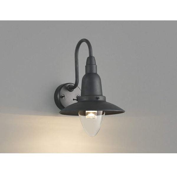 コイズミ ポーチ灯 AU42216L 『ブラケットライト エクステリア照明 ライト』 ブラック